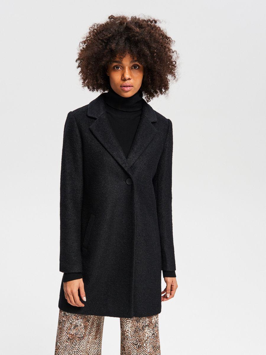 6c5b8c5038 Vásárolj online! Gyapjúszálas kabát, RESERVED, UX381-99X