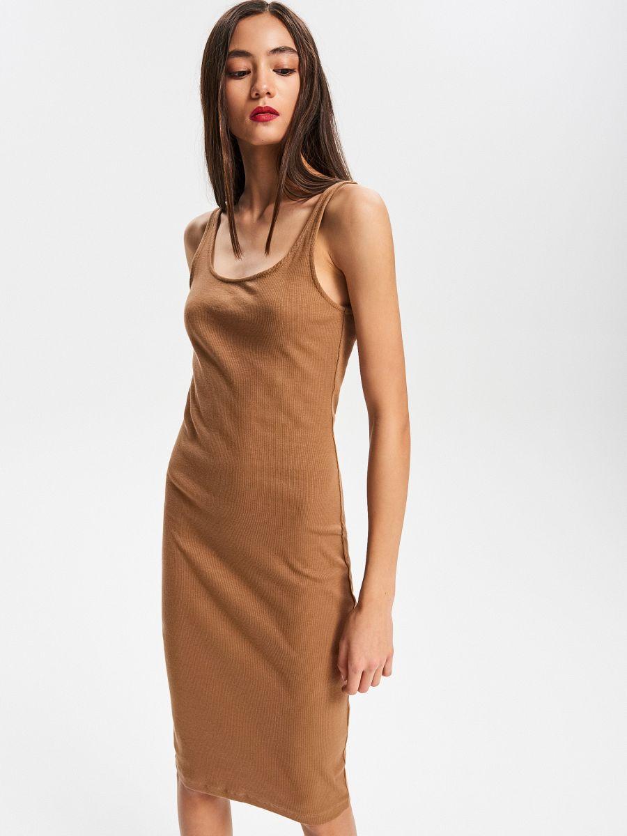 2fcf26c21417 Buy online! Ribbed knit dress, RESERVED, VF479-84X