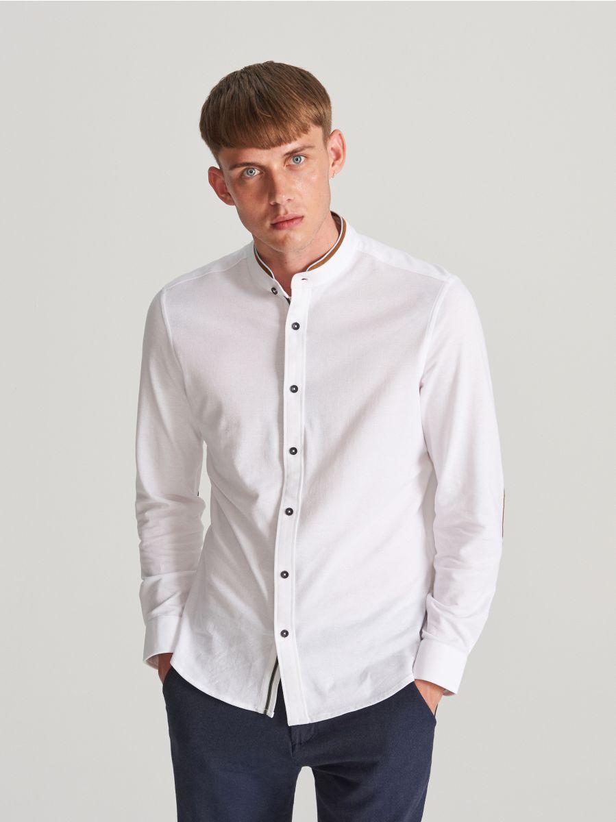 size 40 654f0 01e87 Jetzt shoppen! Stehkragen-Hemd mit Slim-Fit, RESERVED, WG577-00X