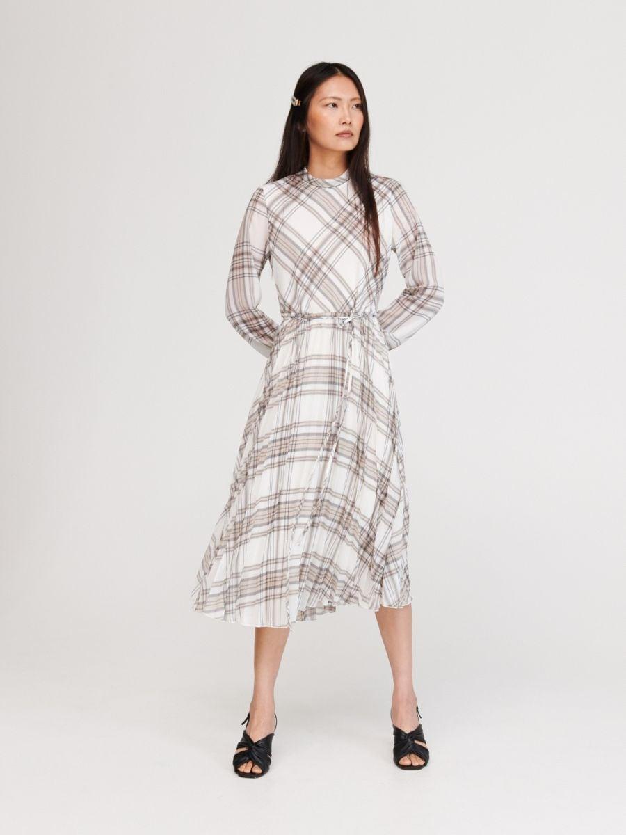 f3c6ae10 Sukienka w kratę, RESERVED, WX277-MLC