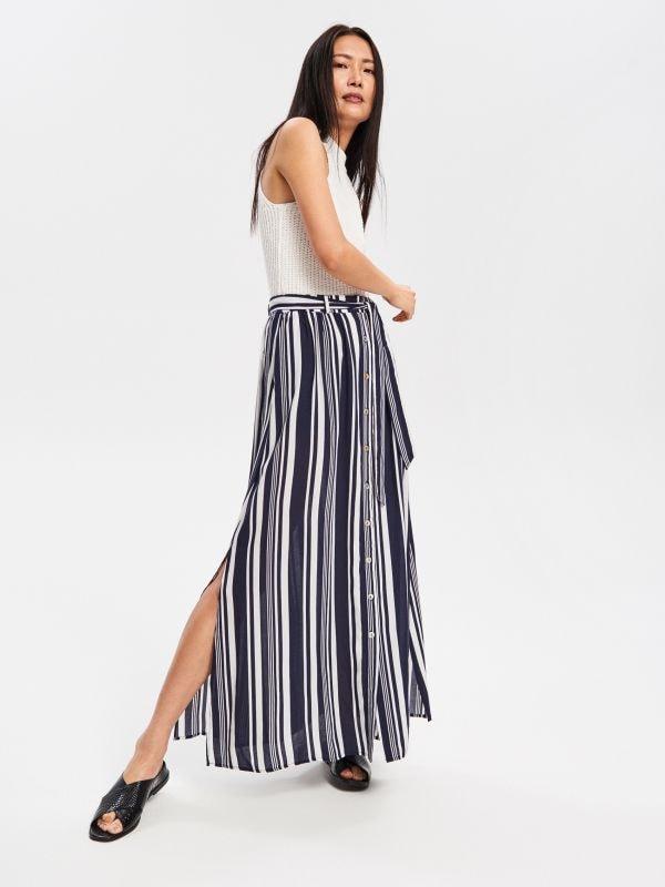 4e48b05a85f6 Úpletová sukňa · Maxi sukňa - tmavomodrá - VD956-59X - RESERVED