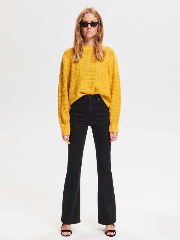 6d8862ed462a37 Sweter z luźnym splotem · Luźny sweter - żółty - VE615-17X - RESERVED