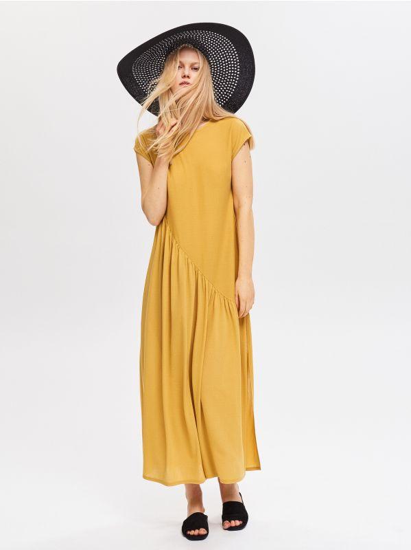 34ae04f2eade Šaty v boho štýle · Dlhé šaty - žltá - VF816-18X - RESERVED