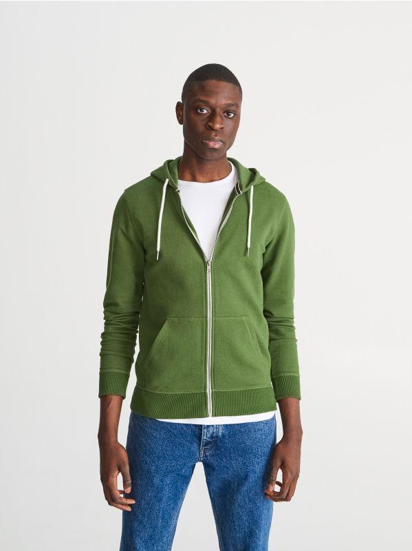 853ed8f9ce0f Mikina s kapucňou · Mikina z organickej bavlny - zelená - VM355-79X -  RESERVED