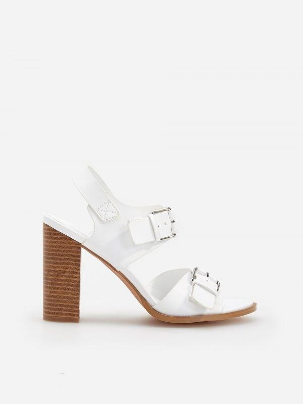 6482c322a708 Sandále na stredne vysokom podpätku · Sandále na vysokom podpätku - biela -  VR893-00X - RESERVED