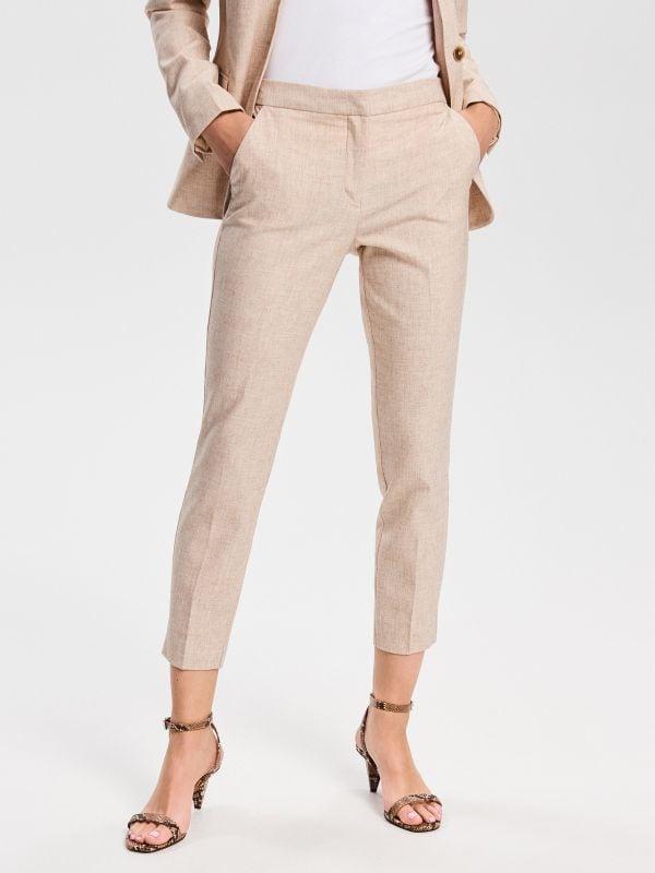 3d32dc79bbbed8 Spodnie z kantem · Spodnie z kantem - beżowy - VS460-08M - RESERVED