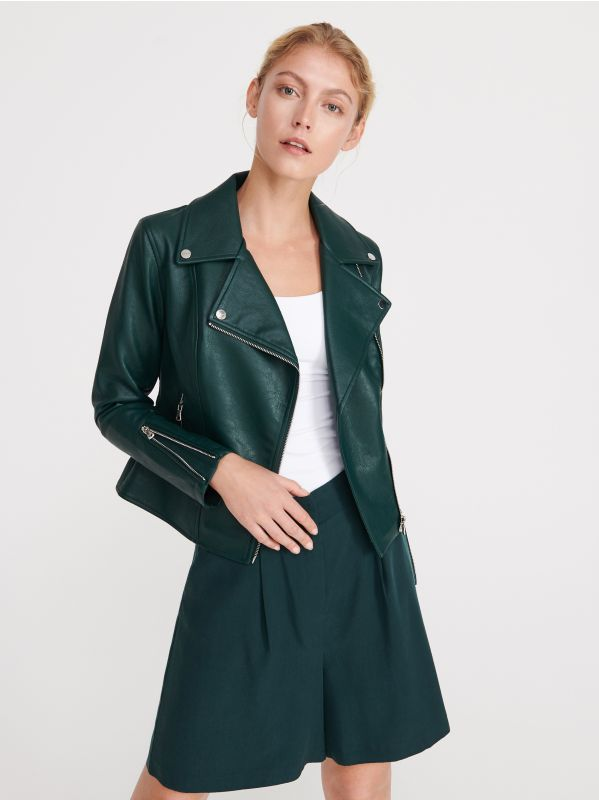 4a70ca97 Biker jacket · Biker jacket - green - VT626-79X - RESERVED