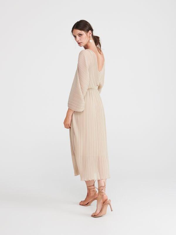 39385d41683a Pásikavé šaty · Plisované šaty - krémová - WB998-02X - RESERVED