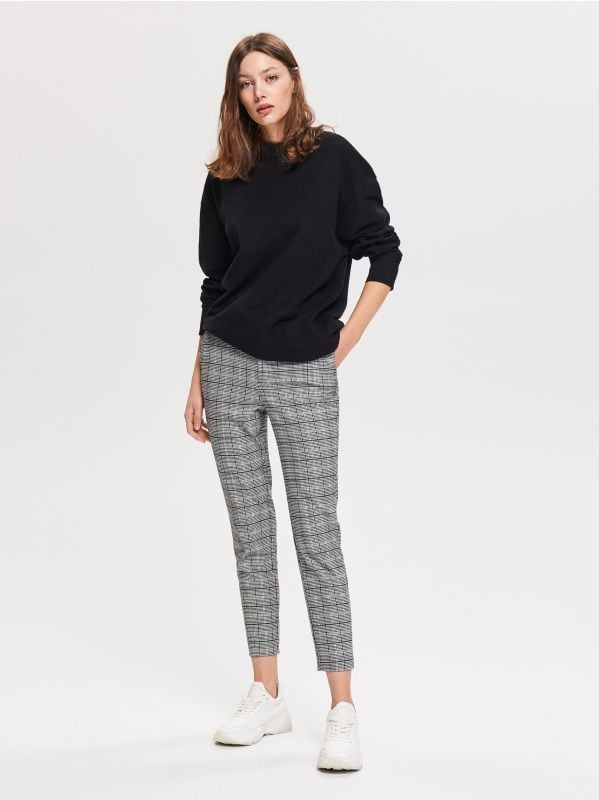 a92dd8e3bb Culotte nadrág · Kockás nadrág - fekete - WL332-99X - RESERVED