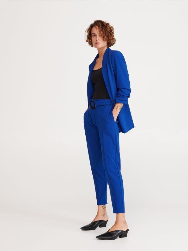 64ef7ef6b7ae93 Spodnie z paskiem · Spodnie z paskiem - niebieski - WO577-57X - RESERVED