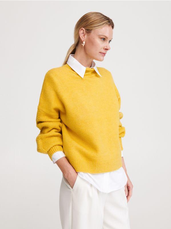 463a7703a7c226 Sweter z półgolfem · Sweter z półgolfem - zielony - XB413-71X - RESERVED